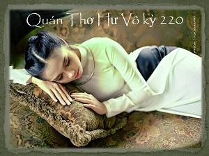 Quán Thơ Hư Vô kỳ 220