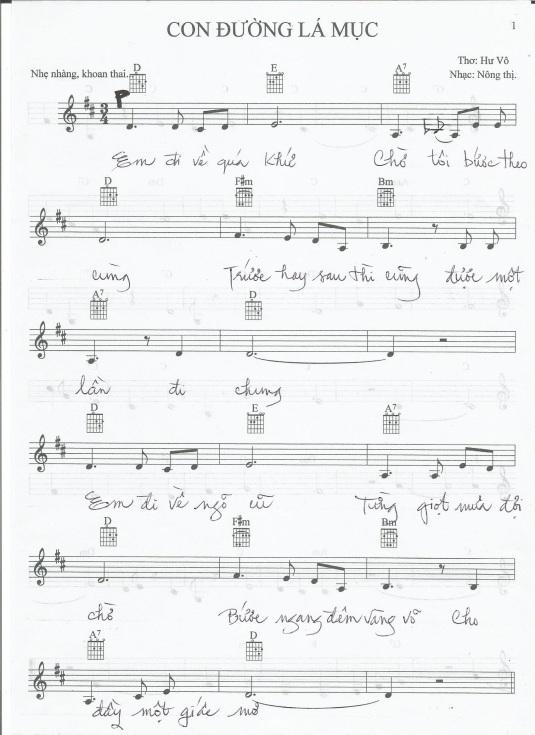 CDLM MUSIC SHEET A