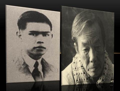 Nhà văn Bình Nguyên Lộc và Mai Thảo